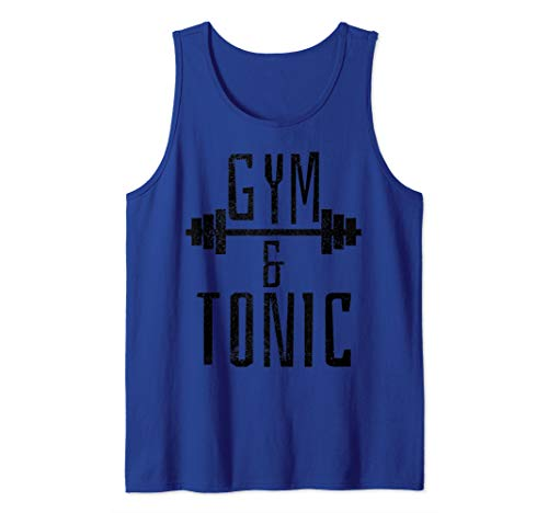 Gym And Tonic - Funny Workout Fitness Bodybuilding Gift Tank Top ()