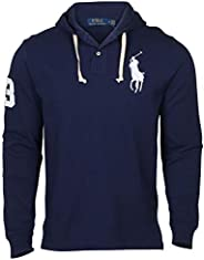 Ralph Lauren Mens Big Pony Mesh Knit Hooded Tee