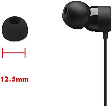 Zotech 20 Pcs Medium Silicone Replacement Ear Buds Tips Black