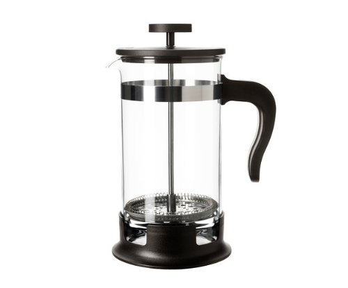 Upphetta Coffee and Tea Maker, Glass French, Stainless Steel by Ikea