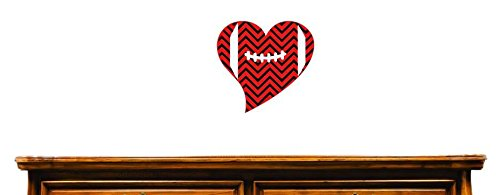 20 Inches X 40 Inches Color Design with Vinyl US V JER 3931 3 Top Selling Decals Heart Football Wall Art Size Multi 20 x 40