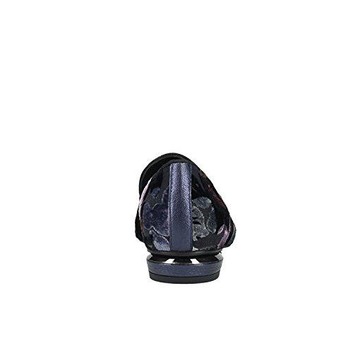 Chaussures 24027 PEDRO Bleues Fleurs MIRALLES Noir fz5AwxUq