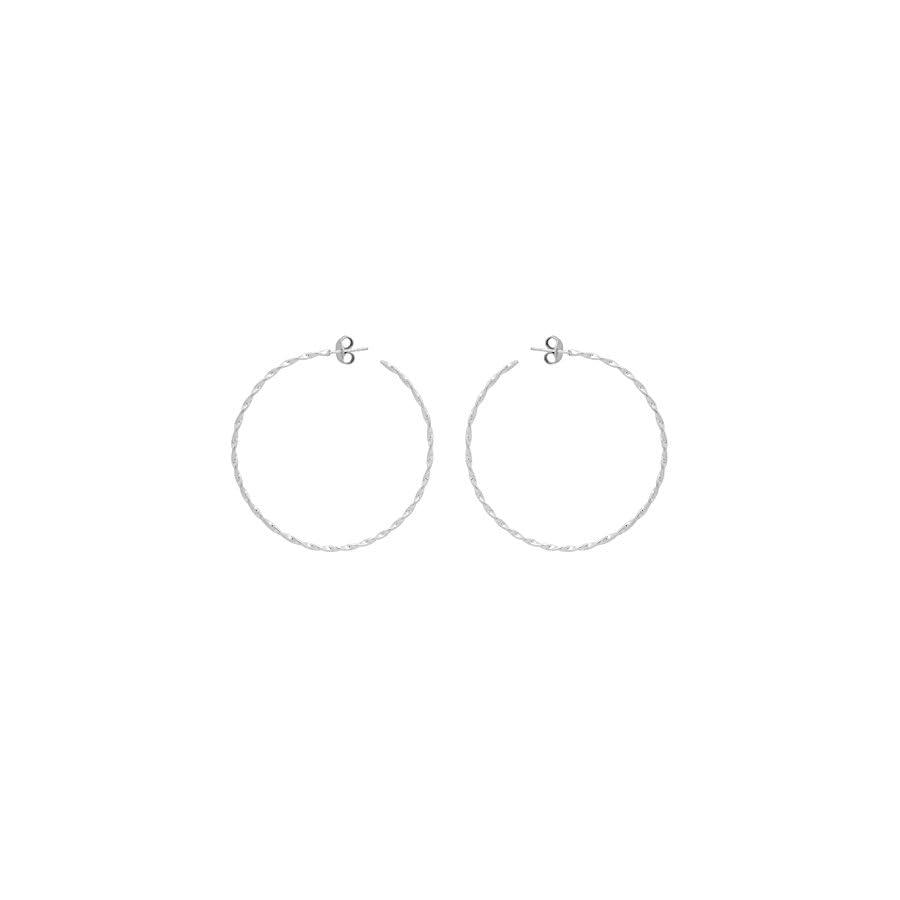 Shine Jewel 92.5 Sterling Silver Silver Hoop Earring For Beautiful Women