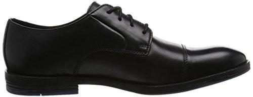 Tamaño Piel Casual Clarks 42 Hombre Prangley Elegante Zapatos Negro En Cap FC4fpq4xw