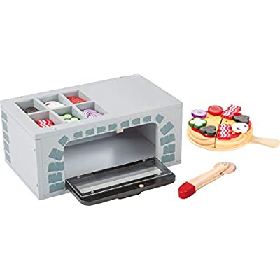 Small Foot Wooden Toys Pizza Oven with accessories complete playset for Play Kitchens designed for children 3+: Toys & Games
