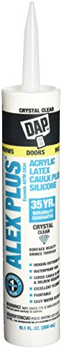 Dap 18401 Crystal Clear Alex Plus Acrylic Latex Caulk Plus Silicone ()