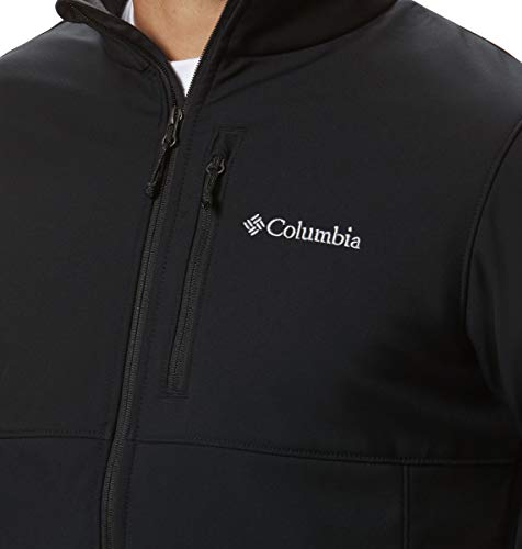 Columbia Men's Ascender Softshell Front-Zip Jacket, Black, 3X