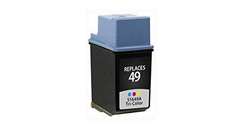 Inksters Remanufactured ink Cartridge Replacement for HP 49A Ink Tri-Color, 51649A (HP 49)