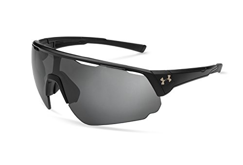 Under Armour UA Changeup Polarized Wrap Sunglasses, UA Changeup Storm Satin Black / Black Frame / Graphite Polar Lens, 135 - Sunglasses Are In 2018 Which Fashion