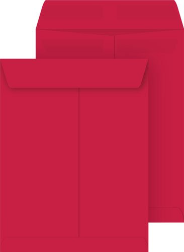 Red Envelope Catalog (Red 10x13 Catalog Envelopes, Press & Seal,)