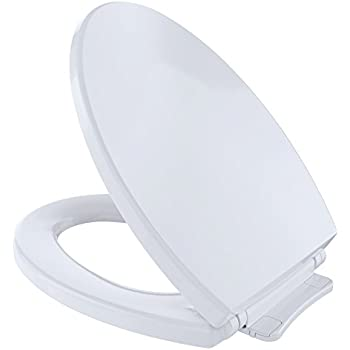 TOTO SS204#01 Contemporary SoftClose Oval Toilet Seat, Cotton White ...