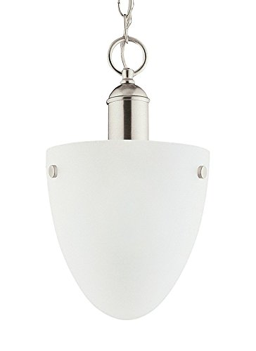 Metropolis One Light 962 (Sea Gull Lighting 51035EN-962 Metropolis - One Light Convertible Pendant, Brushed Nickel Finish with Satin Etched Glass)
