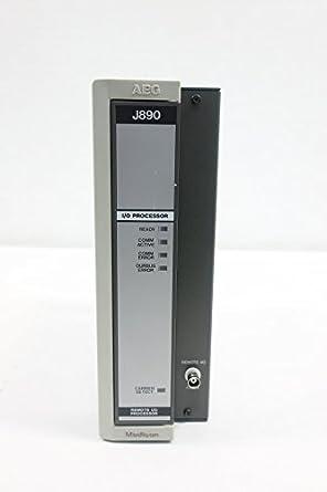 aeg modicon as j890 001 remote i o processor d608597 amazon com
