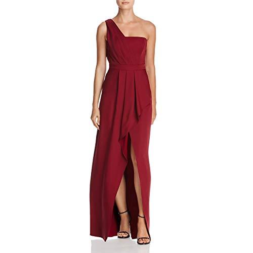 BCBG Max Azria Womens Kristine One Shoulder Full Length Evening Dress Red 2