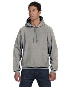 Champion Men's Men' Reverse Weave Fleece Pullover Hoodie, Oxford Gray, Small