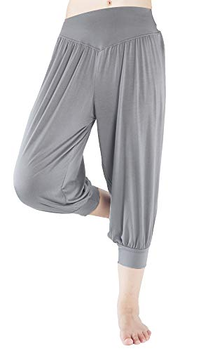 fitglam Women's Harem Capri Pants Comfy Cropped Yoga Jogger Workout Lounge (Out Lounge Pants)