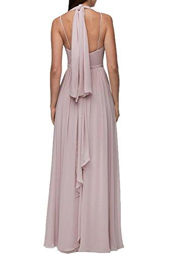 Linie Brautjungfernkleider A Abendkleider Chiffon Braut Hell Lang La Blau Damen Abschlussballkleider Rosa Marie 4gv0W4ZnP