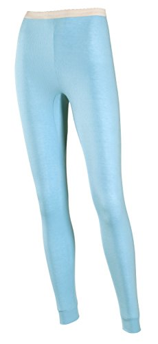 Rib Knit Thermal - Indera Women's Performance Rib Knit Thermal Underwear Pant with Silvadur, Teal, X-Large