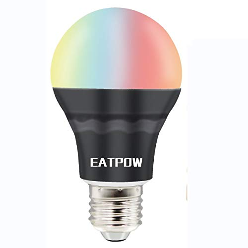 Cheap Smart LED Light Bulb, EATPOW Bluetooth APP Smartphone Controlled Sunrise Sunset Wake Up LED Lights, Dimmable Night Light, Party Light Bulb – Work with Android Phone, iPhone, iPad, and Tablet