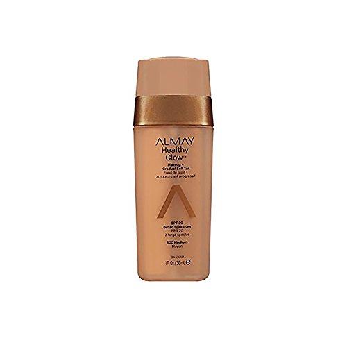 Almay Base de Maquillaje con Autobronceador para Rostro, Medium, 30 ml