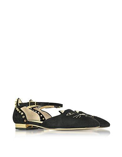Charlotte Olympia Ballerine Donna P175290002 Camoscio Nero