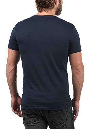 Homme À solid Basic Insignia Basique 1991 Chemise Extensible Blue Pour T Coton Rond Encolure Courtes Portas Manches Avec shirt 100 Multipack P1PIq