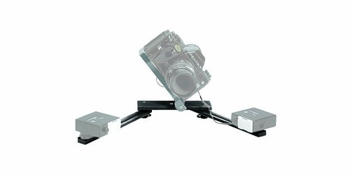 Manfrotto 330B Macro Bracket Flash Support for 2 Shoe Mount Flash Heads-Black