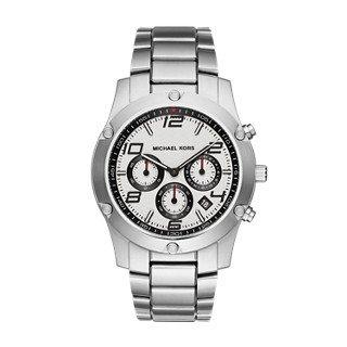 Michael Kors Men's Caine Silver-Tone Watch - Sale Kors Michael Men