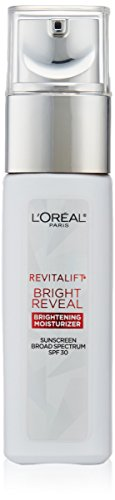 - Face Moisturizer with SPF 30 by L'Oreal Paris, Revitalift Bright Reveal Anti-Aging Day Cream with Glycolic Acid, Vitamin C & Pro-Retinol to Reduce Wrinkles & Brighten Skin, 1 fl. oz.
