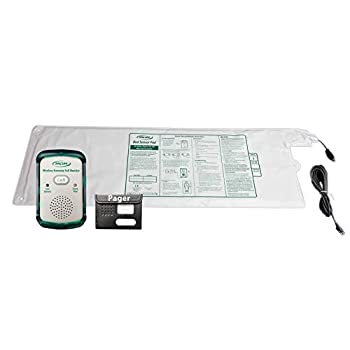 Image of Bed Safety Handles & Rails Wireless Economy Quiet Fall Alert with 10in x 30in Bed Pad and Caregiver Pager