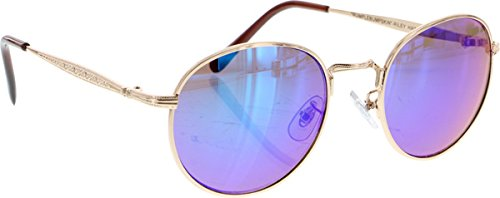 Happy Hour Hawk Holidaze Gold/Indigo Green Sunglass by Happy Hour