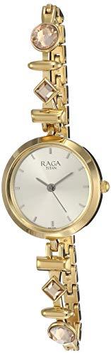 Titan Raga Facets Analog Champagne Dial Women #39;s Watch 2606YM05/NN2606YM05