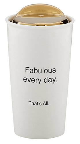 SB Design StudioThat's All Ceramic Double Walled Travel Coffee Mug, Fabulous