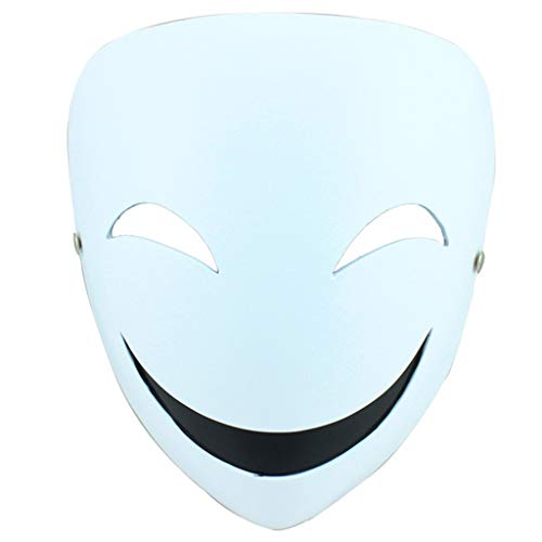 (Masks Halloween Christmas Dark Bullet cos Scorpion Shadow Cos Props Clown Smiley Resin Dress Up & Pretend Play (Color : White, Size :)