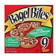 Heinz Cheese, Sausage and Pepperoni Mini Bagel Bite - Appetizer, 7 Ounce - 72 per case.