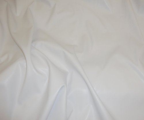 Faux vinyl leather White 2 Way Stretch Vinyl Clothing Fabric Per Yard 58