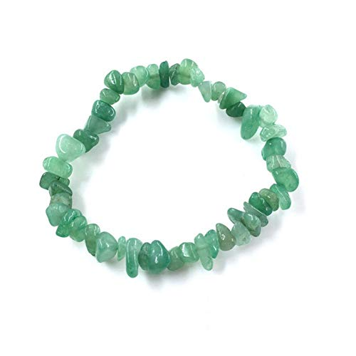 Aventurine Green Nugget - KKTOOL Irregular Natural Gem Stone Bracelet Stretch Chip Beads Nuggets Rose Crystal Quartz Bracelets Bangles for Women