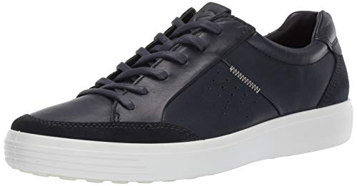 ECCO Men's Soft 7 Sneaker, Navy Suede/Night Sky, 45 M EU (11-11.5 - Sky Grain Blue