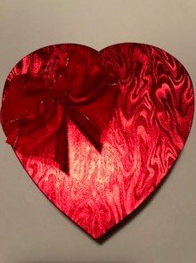 Valentines Day Candy Box - Red Heart Shaped Box w/ Bow - DIY