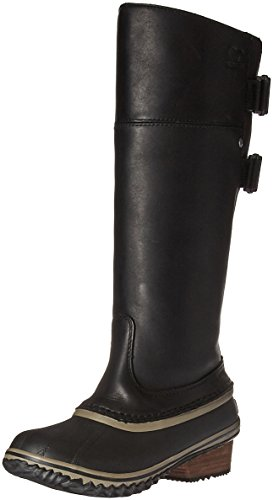 Sorel Women's Slimpack­ Riding Tall II Mid Calf Boot, Black, Kettle, 10 B US