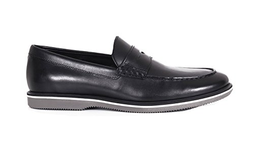 Hogan Loafers in Black Leather, Mens.