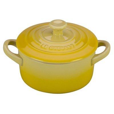 Le Creuset Stoneware Petite Round Casserole, 8-Ounce, Soleil (Le Creuset Pot Rack)