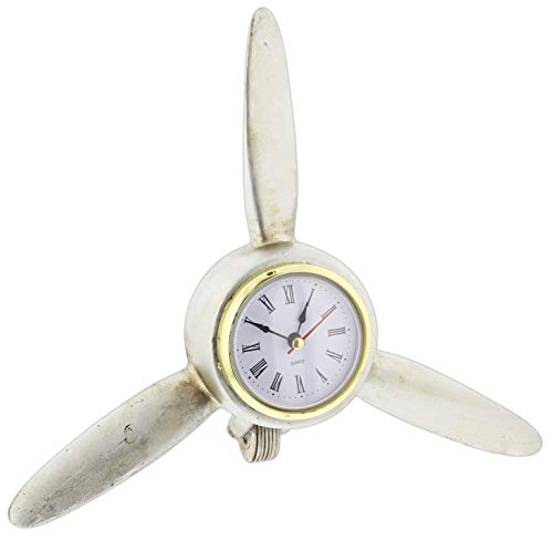 Joy of Giving Vintage Style Airplane Propeller Blades Desk Clock