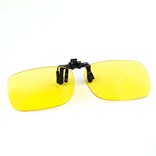(Cyxus Blue Light UV Blocking Glasses with Anti Eyestrain Clip On Flip Up Eyewear and Yellow Lens)