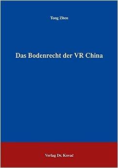 Book Das Bodenrecht der VR China