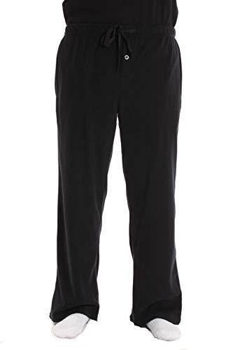 #followme Polar Fleece Pajama Pants for Men Sleepwear PJs 45902-BLK-XL Black]()