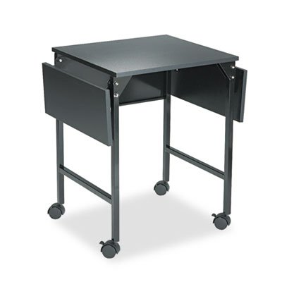 Mobile Machine Stand w/Drop Leaves, Two-Shelf, 36w x 18d x 26-3/4h, Black, Sold as 1 Each by Generic (Image #2)