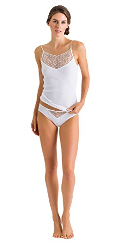 HANRO Women's Melissa Spaghetti Camisole, White Medium