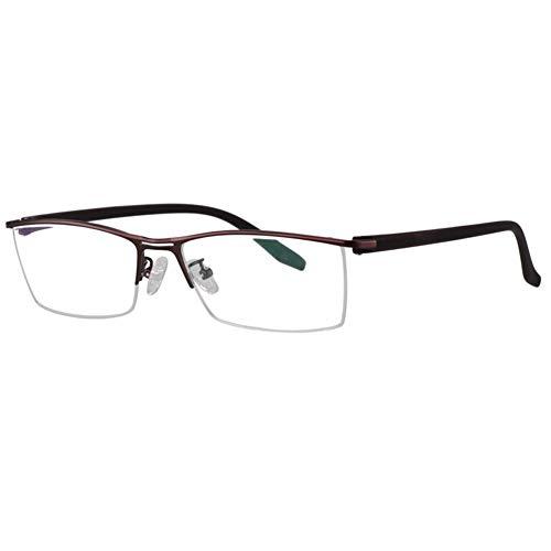 Multifocal Diopter Progressive Glasses lentes,Blue Light Filtering Reading Glasses,Photochromic Mens/Women Half Rimmed Reading Glasses