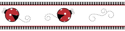 - Sweet Jojo Designs Red and White Polka Dot Little Ladybug Baby and Children's Wall Border
